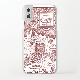 Map of Bohemia (red) Clear iPhone Case