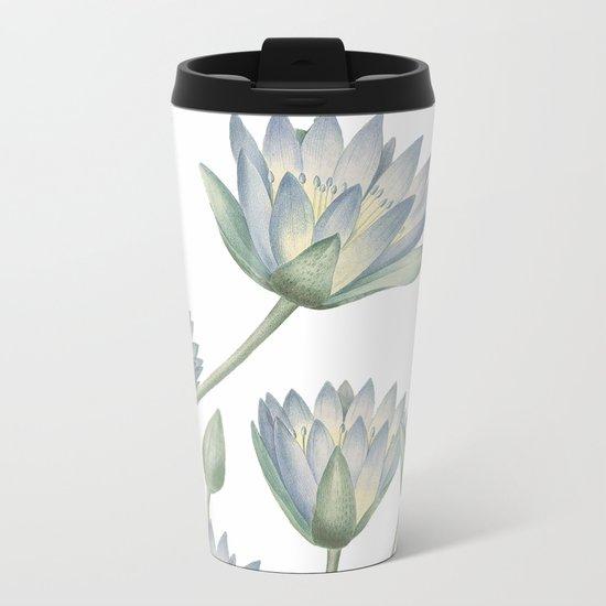 Water Lily Metal Travel Mug