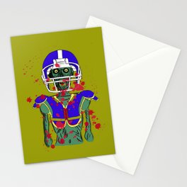 Zombie Football Player Stationery Cards