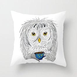 Late Night Coffee Throw Pillow