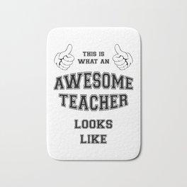 AWESOME TEACHER Bath Mat