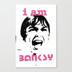 I am Banksy The Scream Canvas Print