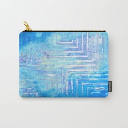 Infinitely Blue Squared Carry-All Pouch