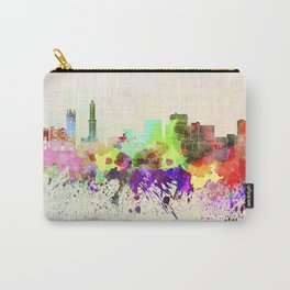 Genoa skyline in watercolor background Carry-All Pouch