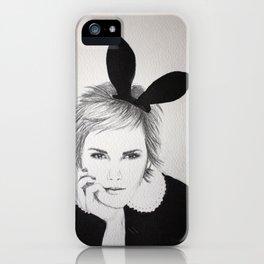 'Emma Watson' Bunny Ears Illustration iPhone Case