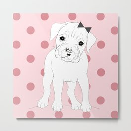Nelly the Boxer Metal Print