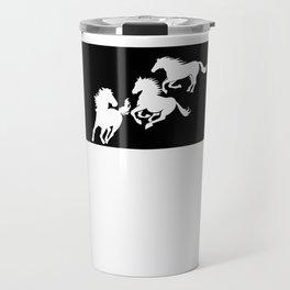 North Dakota Nokota Horse Lover Black Travel Mug