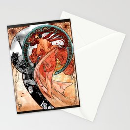 Fire Dance on the Western Front Stationery Cards