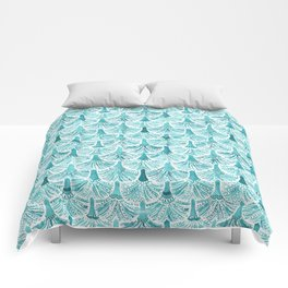 MERMAID TAILS Nautical Scallop Pattern Comforters
