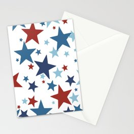 Stars - Red, White and Blue Stationery Cards