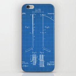 Ice Hockey Stick Patent - Ice Hockey Art - Blueprint iPhone Skin