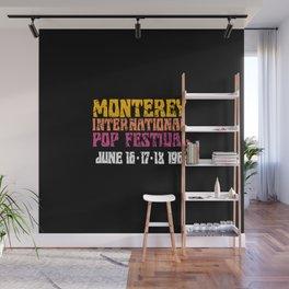 Monterey International Pop Festival 1967 Wall Mural