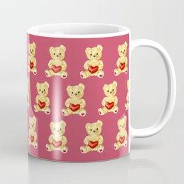 Cute Teddy Bears Pink Pattern Coffee Mug