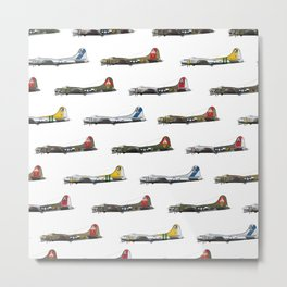 Classic B-17 Flying Fortress Continuous Pattern Metal Print