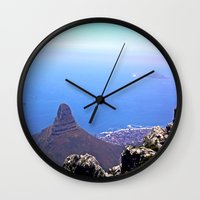 south africa Wall Clocks featuring South Africa Impression 9 by Art-Motiva