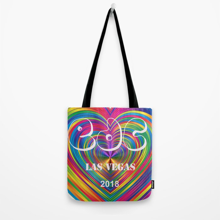 Electric Daisy Carnival Heart Tote Bag