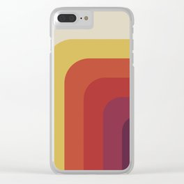 Retro cassette palette Clear iPhone Case