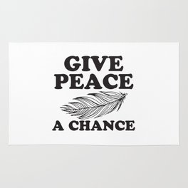 Give Peace a chance Rug