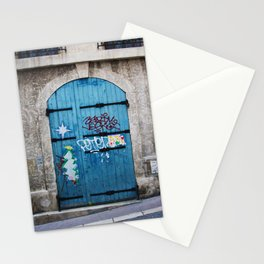 Marseilles Blue Door Stationery Cards