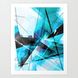Shiver - Geometric Abstract Art Art Print