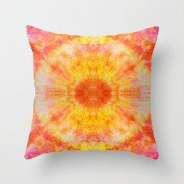 Orange Sunburst Throw Pillow