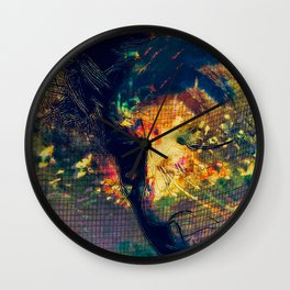 Portrait of a Woman: We Are Flowers Wall Clock