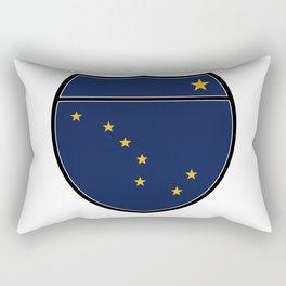 Alaska Flag In An Interstate Sign Rectangular Pillow