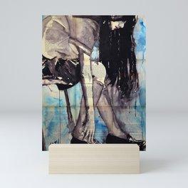Cuore - ink & watercolor drawing-painting Mini Art Print