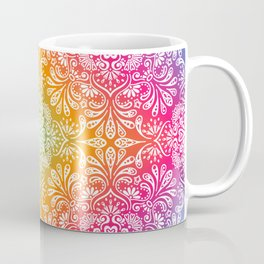 rainbow aura mandala Coffee Mug