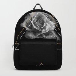 Rose Black and White Backpack