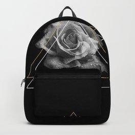 Rose Black and White Backpack