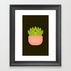 Succulent Plant Framed Art Print