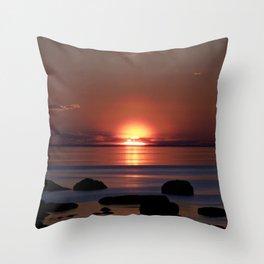 Shock-wave Sunset Throw Pillow