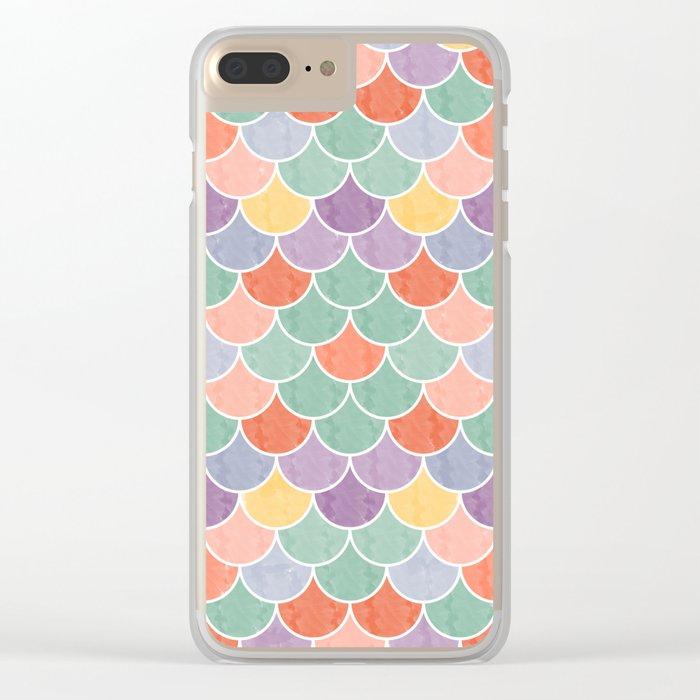 Watercolor Lovely Pattern VVXVIV Clear iPhone Case
