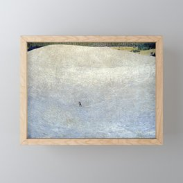 Plight of the Lonely Skier, Snowy Alpine Landscape by Cuno Amiet Framed Mini Art Print
