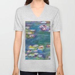 Lily Pond Unisex V-Neck