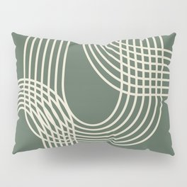 Minimalist Lines in Forest Green Pillow Sham
