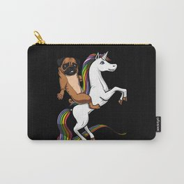Pug Dog Riding Unicorn Carry-All Pouch