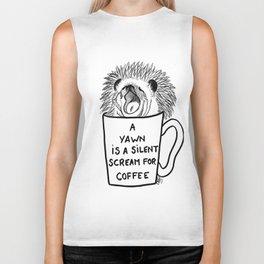 Hedgehog & coffee Biker Tank