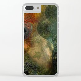 """""""The Inner Forest (caramel pattern)"""" Clear iPhone Case"""