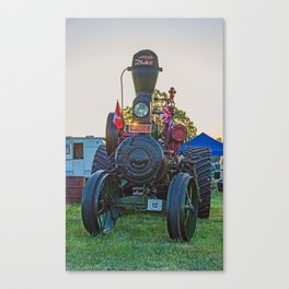 Moose traction engine at sunset Canvas Print