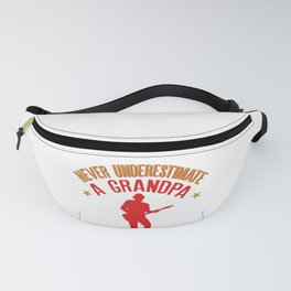 Never Underestimate a Grandpa with a Guitar design Fanny Pack