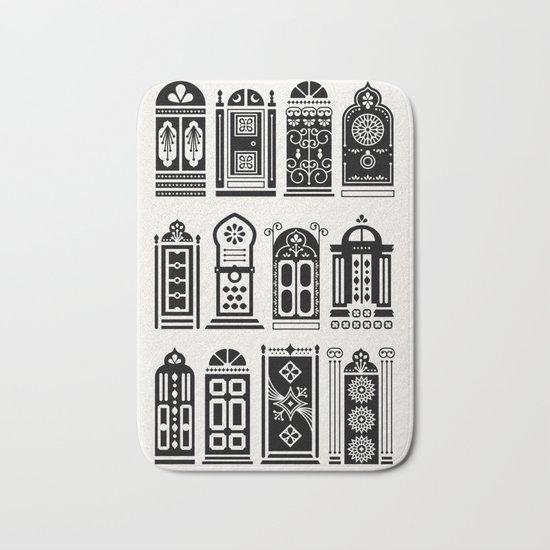 Moroccan Doors – Black Palette Bath Mat