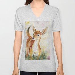 Little Deer Unisex V-Neck