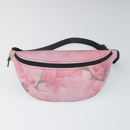 Blush pink green watercolor orchids flowers  Fanny Pack