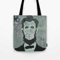 lincoln Tote Bags featuring Lincoln by Doren Chapman