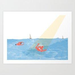 Bye Bye Sea Art Print