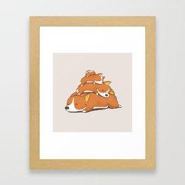 Comfy Bed - CORGI Framed Art Print