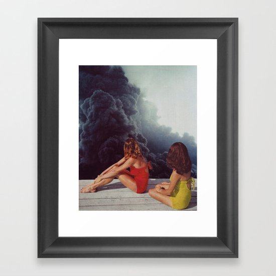 SUNBATHING Framed Art Print