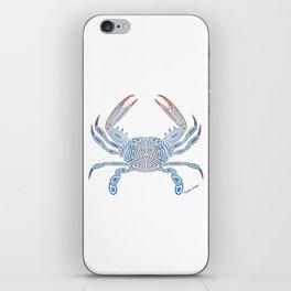 Tribal Blue Crab iPhone Skin